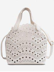 Hollow Out Top Handle Crossbody Bag -
