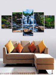 Mountains Stream Print Unframed Split Canvas Paintings -