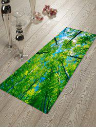 Pattern Green Tree Blue Sky Home Decor Rug -