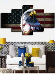 American Flag Eagle Print Unframed Split Canvas Paintings -