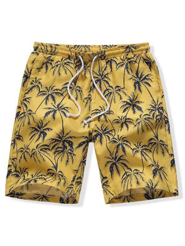 Hot Hawaii Coconut Tree Print Board Shorts