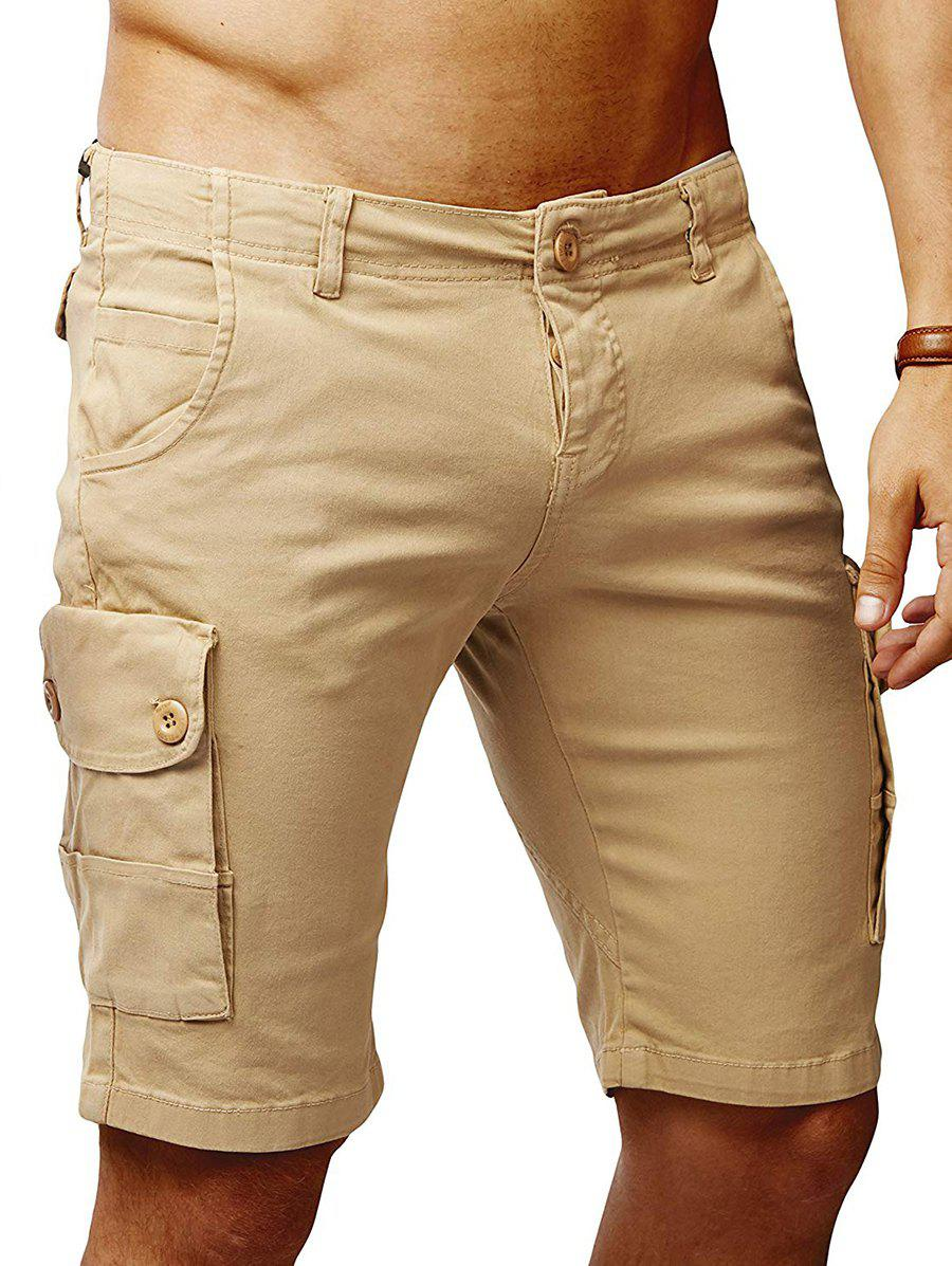 Best Solid Color Flat Front Cargo Shorts
