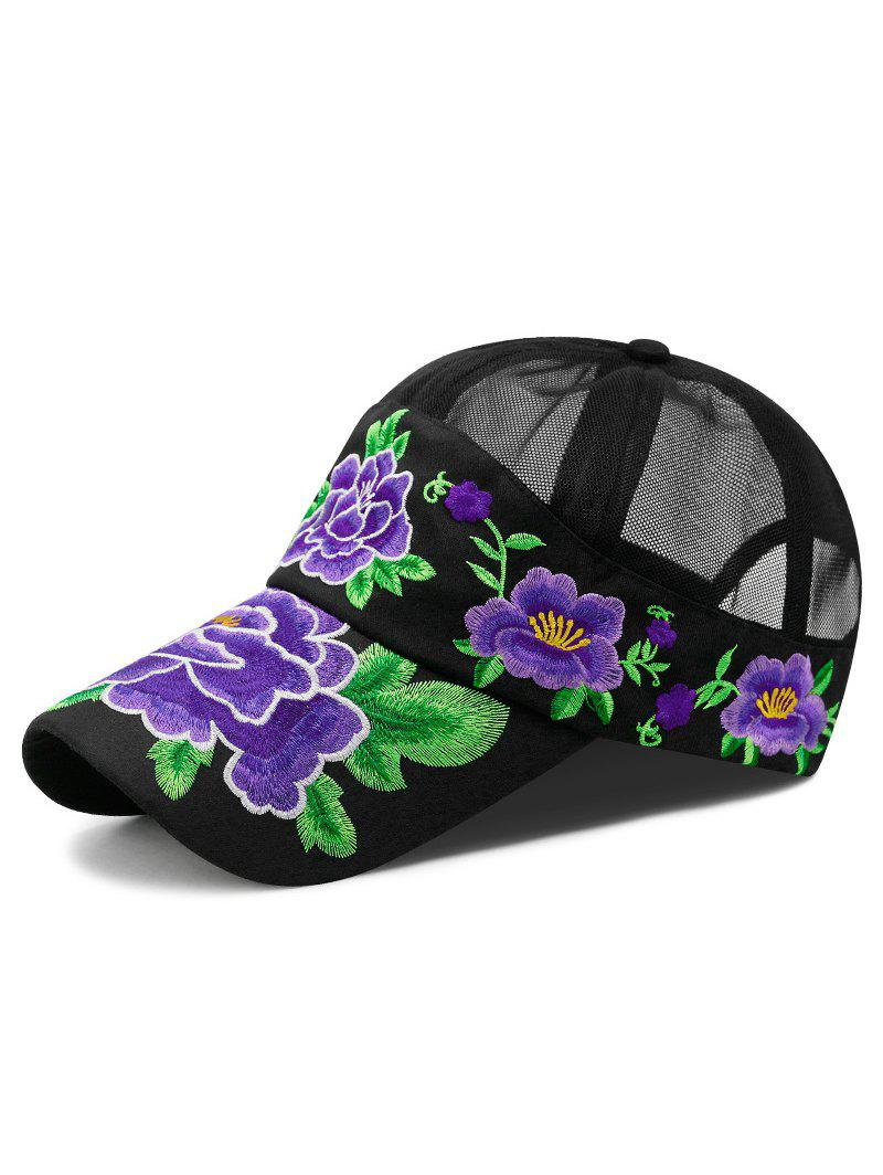 Outfit Ethnic Embroidered Flower Baseball Cap