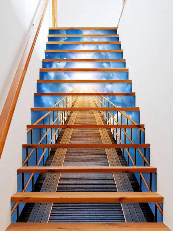 3D Sky Bridge Printed Removable Stair Stickers