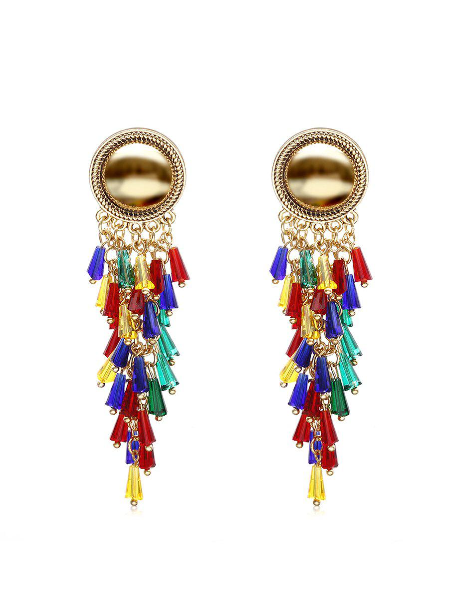 Sale Exaggerated Colorful Tassels Earrings