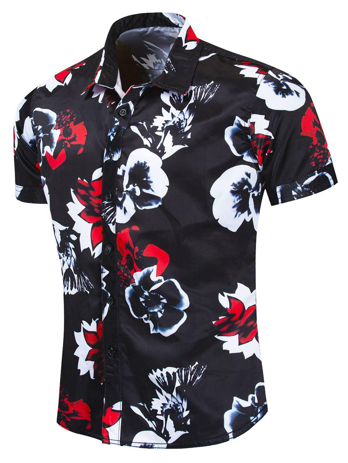 Latest Floral Pattern Design Leisure Shirt