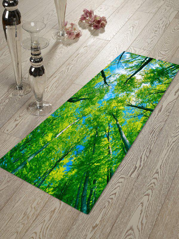 Fashion Pattern Green Tree Blue Sky Home Decor Rug