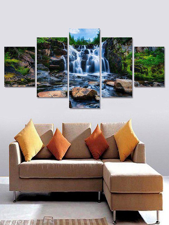 Shops Mountains Stream Print Unframed Split Canvas Paintings