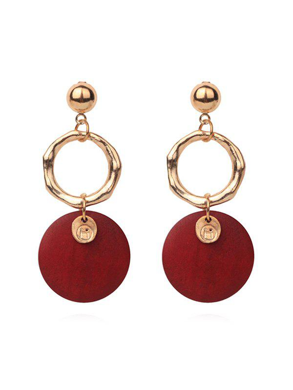 Discount Double Round Pendant Earrings