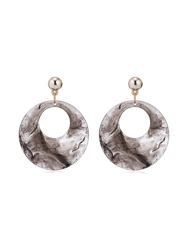 Outfits Acrylic Hollow Round Pendant Earrings