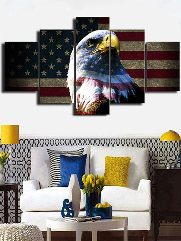 Best American Flag Eagle Print Unframed Split Canvas Paintings