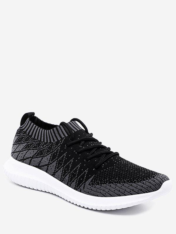 Store Outdoor Geometric Knit Mesh Sneakers