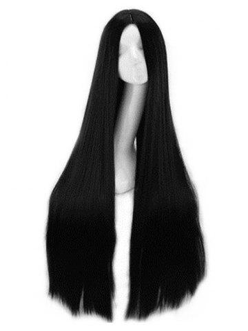 Center Part Natural Long Straight Synthetic Wig