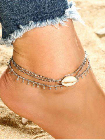 Two-piece Shell Chain Anklet