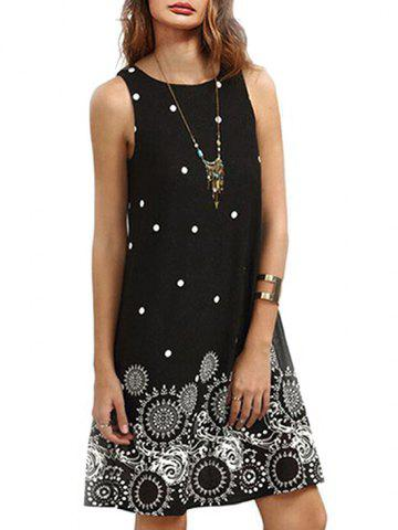 Polka Dot Printed Sleeveless Mini Dress