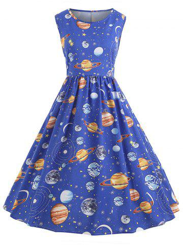 Planet Outer Space Sleeveless Dress