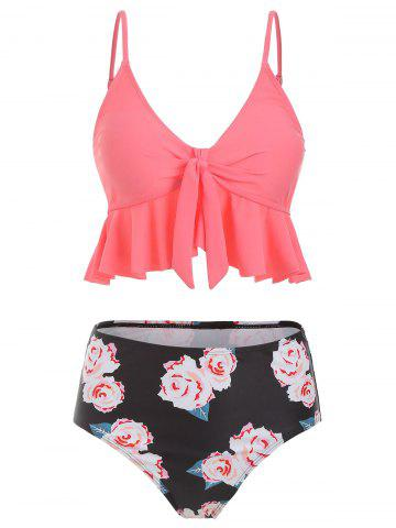 b462cd76f754a 4% OFF] Cut Out Cami Blouson Boyleg Tankini | Rosegal