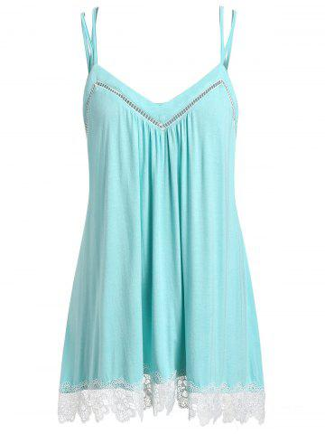 Plus Size Lace Insert Cami Top