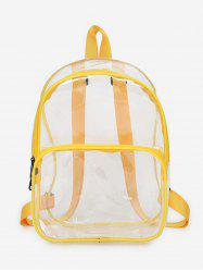 Plastic Transparent College Backpack -