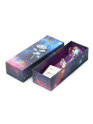 Mother's Day Simulation Gold Foil Flower Colorful Shiny Gift Box -