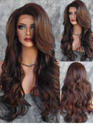 Side Part Body Wave Long Synthetic Wig with Lace Front -