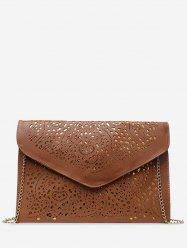 Hollow Out Design PU Crossbody Bag -