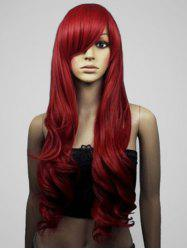 Long Side Bang Body Wave Cosplay Synthetic Wig -