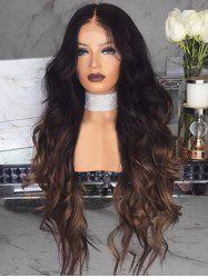 Body Wave Center Part Long Synthetic Wig with Lace Front -