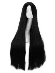 Center Part Natural Long Straight Synthetic Wig -