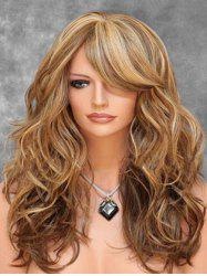Oblique Bang Body Wave Long Synthetic Wig -