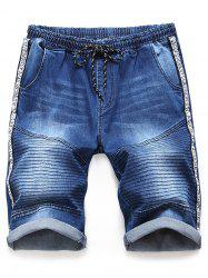 Letter Print Casual Jeans Shorts -