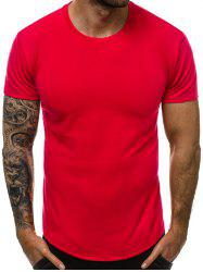 Solid Color Round Neck Leisure T-shirt -