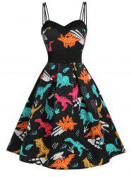 Dinosaur Cami Empire Waist Dress -