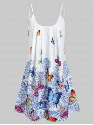 Butterfly Flower Cami Tunic Dress -