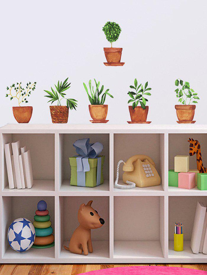 Potted Plants Print Removable Wall Art Stickers