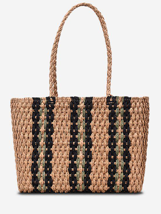 Online Striped Straw Shoulder Bag