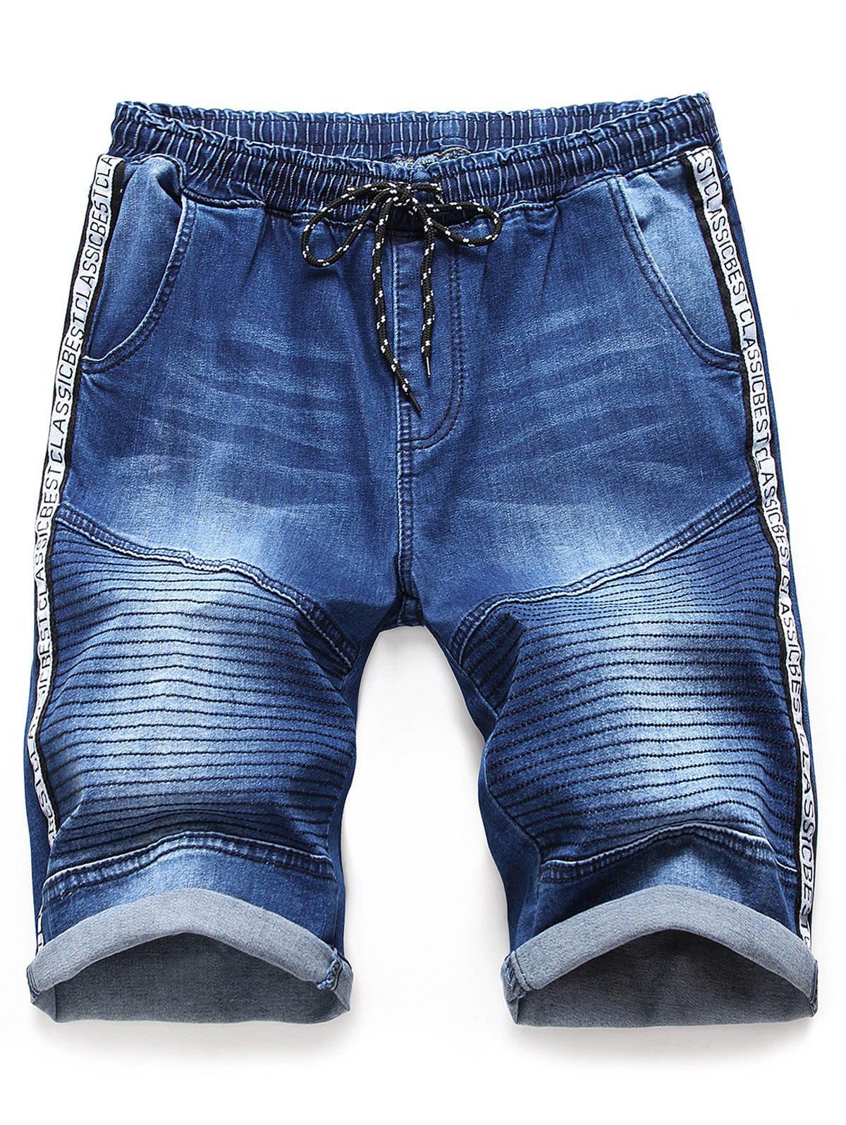 Latest Letter Print Casual Jeans Shorts