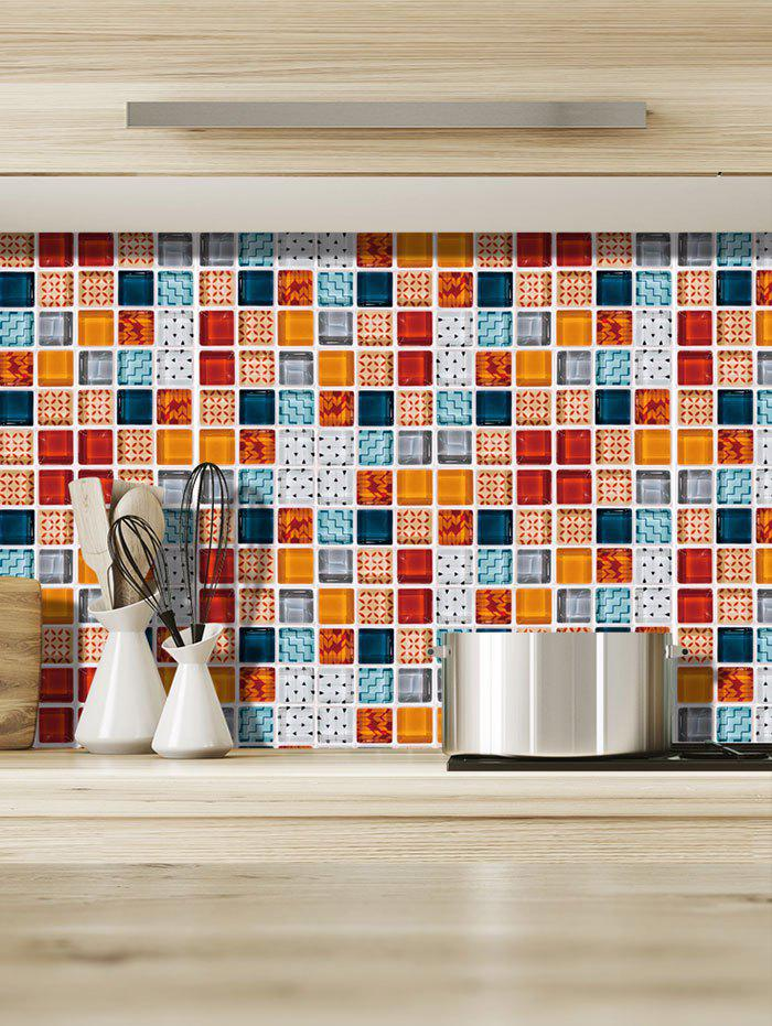 Outfits 19PCS Mosaic Printed Wall Stickers