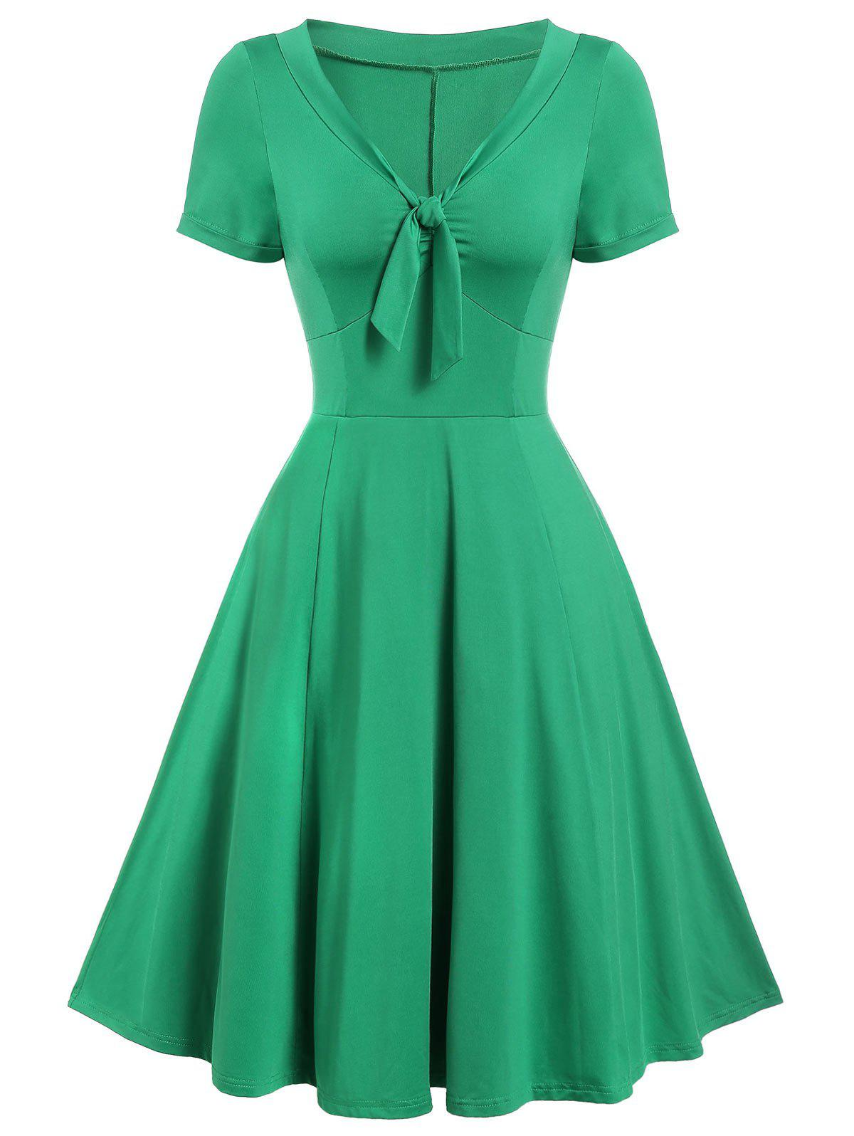 Buy Vintage Bow Tie Fit and Flare Dress
