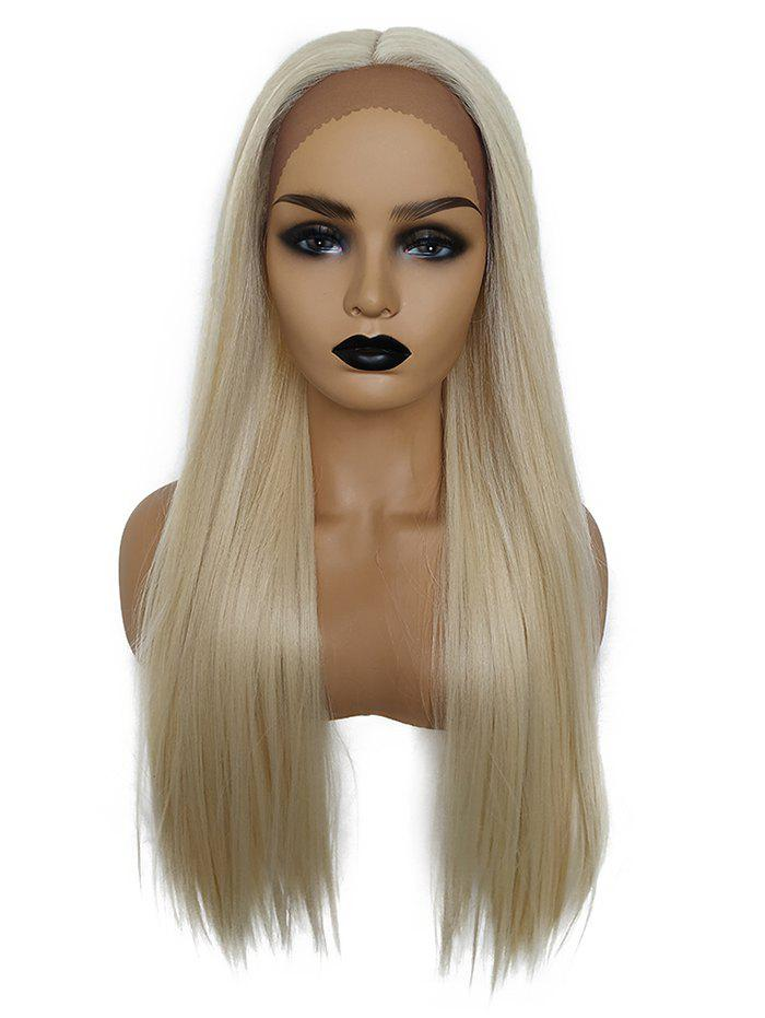 Outfit Long Center Part Straight Synthetic Lace Front Wig