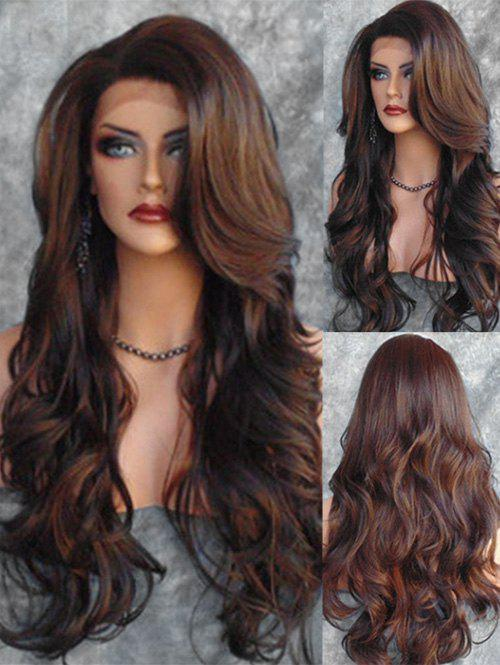 Best Side Part Body Wave Long Synthetic Wig with Lace Front