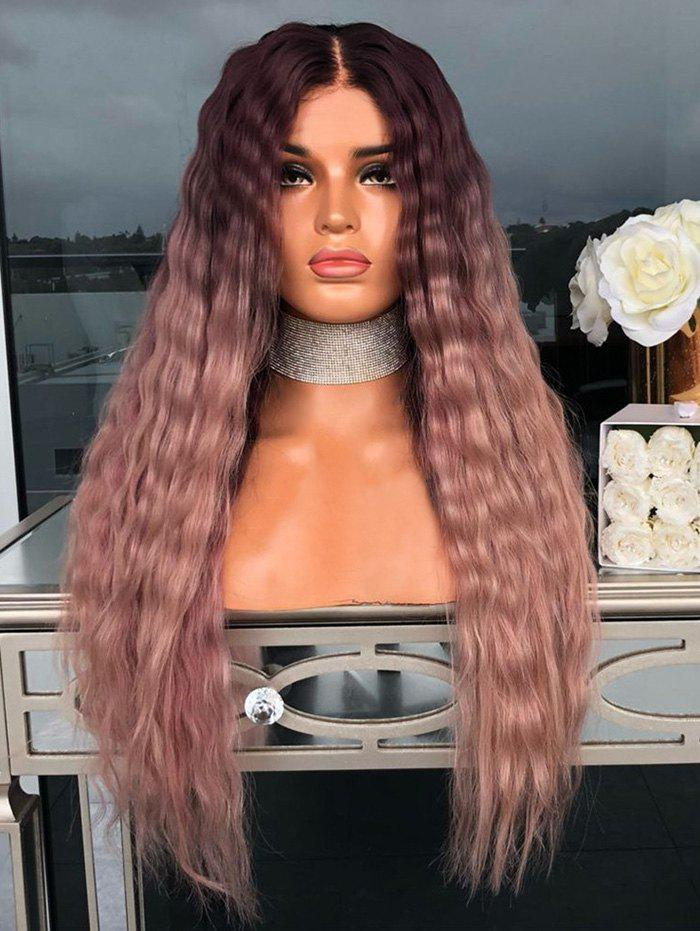 Buy Center Part Wavy Long Ombre Synthetic Wig with Lace Front