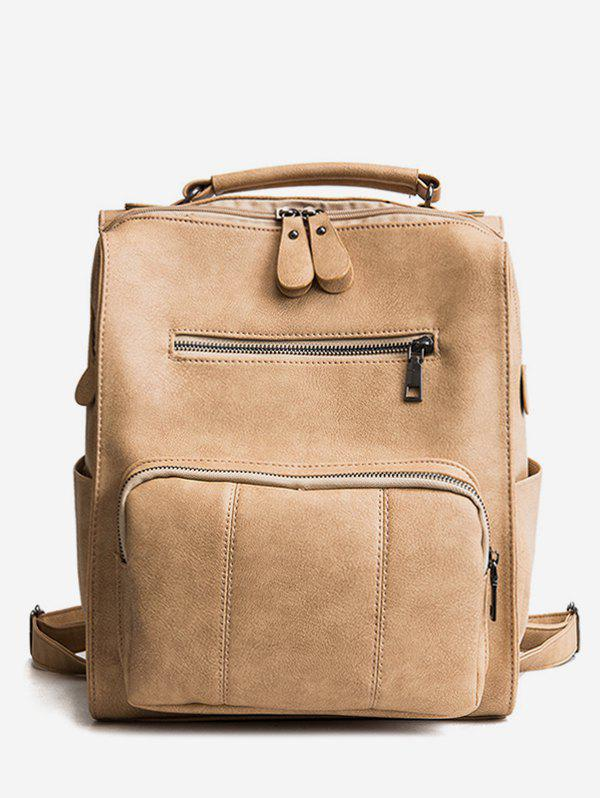 Latest Retro Solid PU Leather Backpack