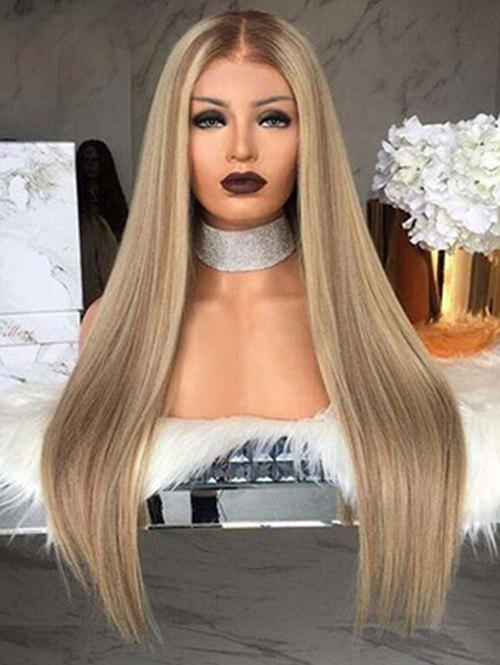 Discount Synthetic Straight Long Center Part Wig