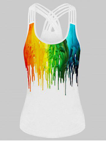 Splatter Paint Strappy Plus Size Tank Top
