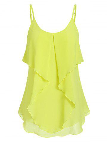 Solid Cami Tiered Tank Top