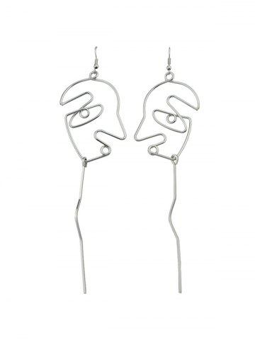 Alloy Abstract Face Earrings
