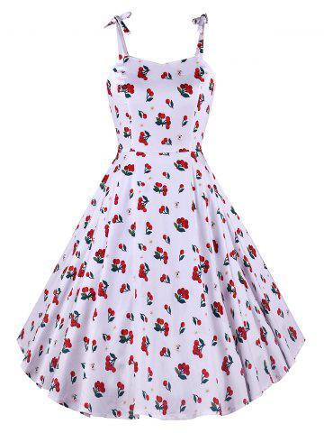 Sweetheart Collar Fit and Flare Dress