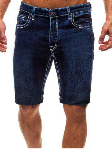 Casual Style Zipper Fly Jeans Shorts