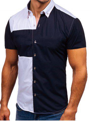 Two Tone Panel Casual Shirt